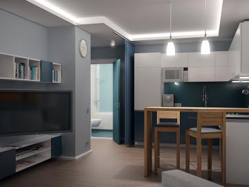 Ako prispôsobiť 1-izbový byt pre štyroch
